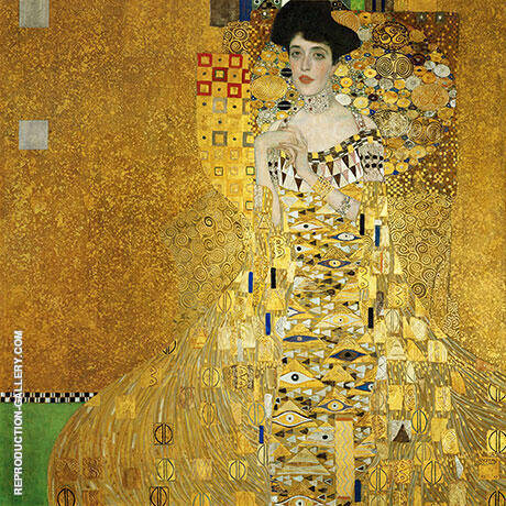 Portrait of Adele Bloch-Bauer I 1907 By Gustav Klimt - Oil Paintings & Art Reproductions - Reproduction Gallery