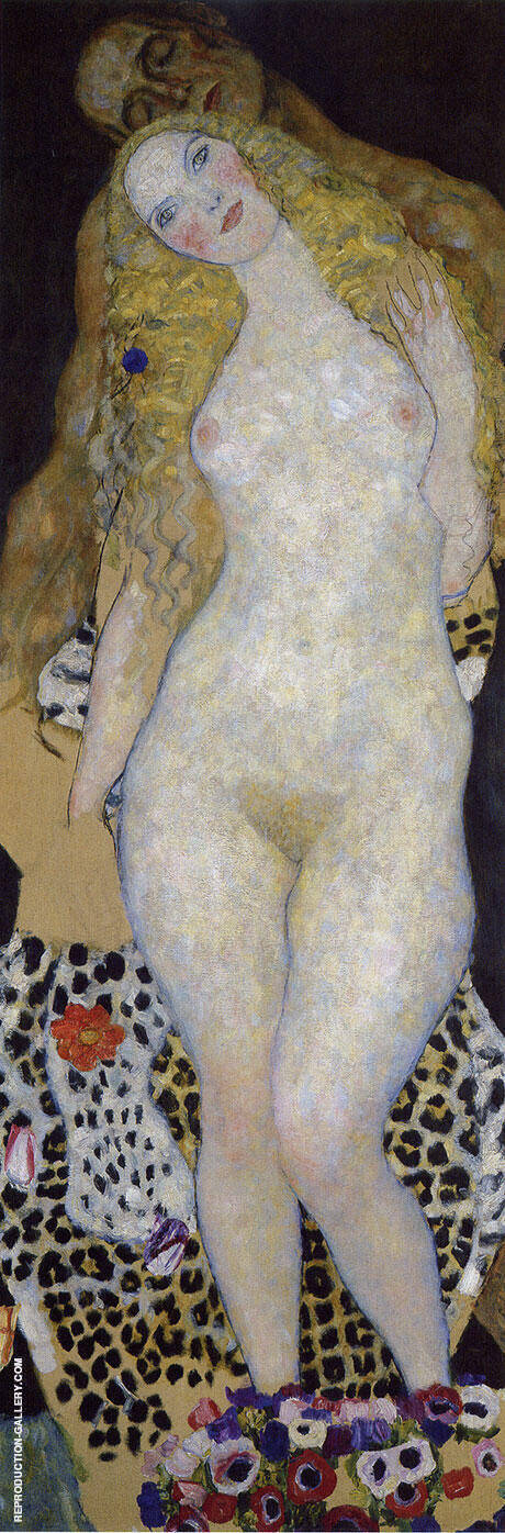Adam and Eve c1917 By Gustav Klimt - Oil Paintings & Art Reproductions - Reproduction Gallery