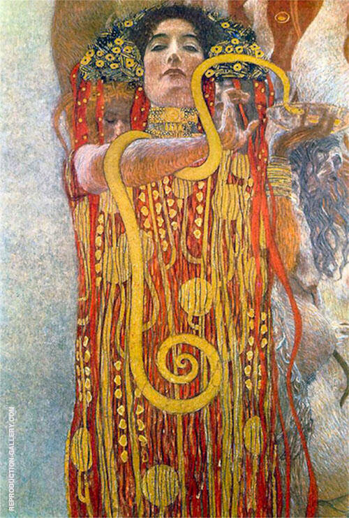 Hygieia Medicine Detail 1900 By Gustav Klimt Replica Paintings on Canvas - Reproduction Gallery