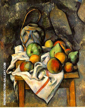 La Vase Paille By Paul Cezanne