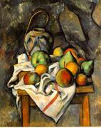 La Vase Paille By Paul Cezanne