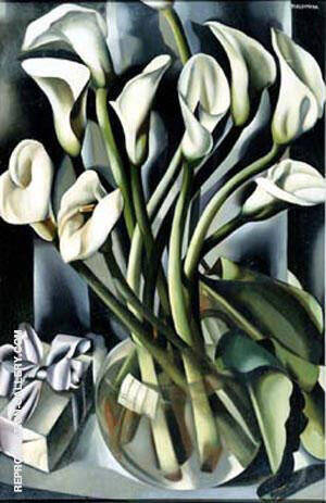 Arums Calla Lily By Tamara de Lempicka - Oil Paintings & Art Reproductions - Reproduction Gallery