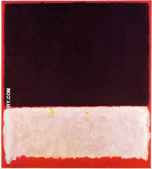 Untitled 1958 Black White Red Painting By Mark Rothko