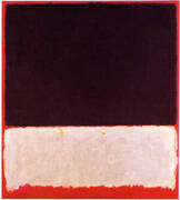 Untitled 1958 Black White Red By Mark Rothko (Inspired By)