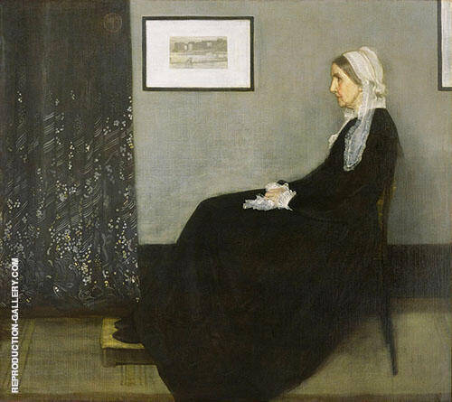 Arrangement in Grey and Black No. 1 The Artist's Mother 1871 By James McNeill Whistler