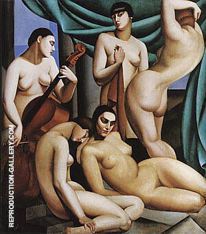 Rhythm 1924 By Tamara de Lempicka Replica Paintings on Canvas - Reproduction Gallery