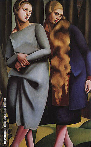 Irene and her Sister 1925 Painting By Tamara de Lempicka