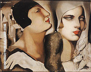 Two Woman with Cloches 1925 Painting By Tamara de Lempicka