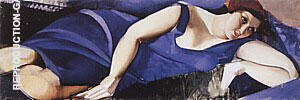 Woman Lying on the Grass 1926 By Tamara de Lempicka
