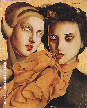 The Orange Scarf 1927 By Tamara de Lempicka Replica Paintings on Canvas - Reproduction Gallery