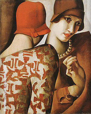 Sharing Secrets 1928 Painting By Tamara de Lempicka - Reproduction Gallery