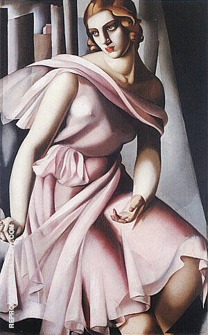 Portrait of Romana de La Salle 1928 By Tamara de Lempicka Replica Paintings on Canvas - Reproduction Gallery