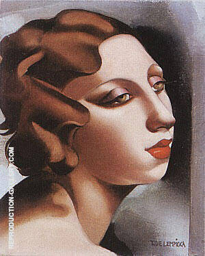 Portrait of a Young Lady 1928 By Tamara de Lempicka Replica Paintings on Canvas - Reproduction Gallery