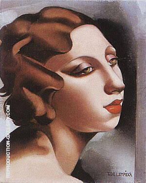 Portrait of a Young Lady 1928 By Tamara de Lempicka