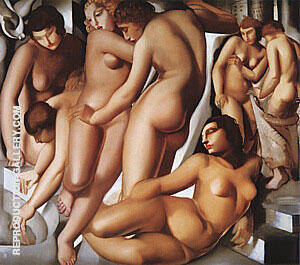 Woman Bathing, 1929 By Tamara de Lempicka Replica Paintings on Canvas - Reproduction Gallery