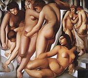 Women Bathing 1929 By Tamara de Lempicka