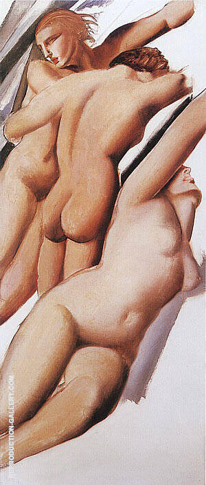 Three Nudes, 1929 Painting By Tamara de Lempicka - Reproduction Gallery