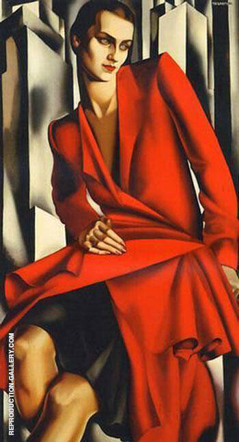 Portrait of Mrs. Bush 1929 By Tamara de Lempicka