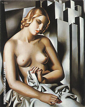Nude with Buildings 1930 By Tamara de Lempicka