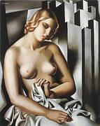 Nude with Buildings 1930 By Tamara de Lempicka