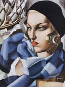 The Blue Scarf 1930 By Tamara de Lempicka