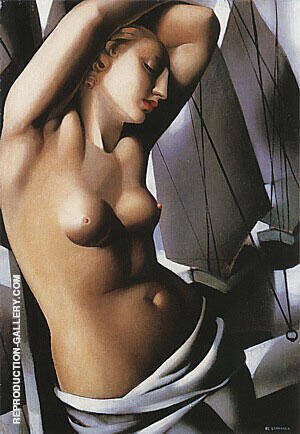 The Blue Hour 1931 By Tamara de Lempicka Replica Paintings on Canvas - Reproduction Gallery
