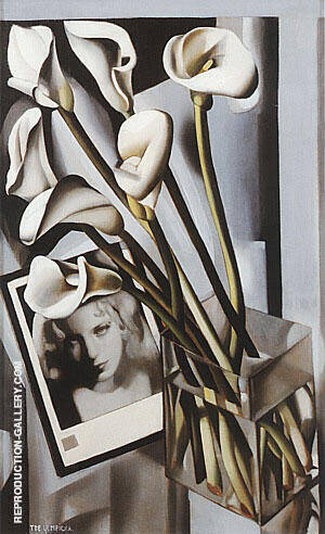 Arlette Boucard with Arums, 1931 Painting By Tamara de Lempicka