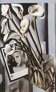 Arlette Boucard with Arums, 1931 By Tamara de Lempicka