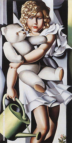 Reproduction of Portrait of Miss Poum Rachou 1933 by Tamara de Lempicka | Oil Painting Replica On CanvasReproduction Gallery