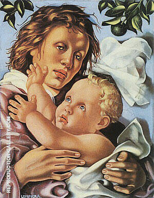 Quattrocento, 1937 By Tamara de Lempicka - Oil Paintings & Art Reproductions - Reproduction Gallery