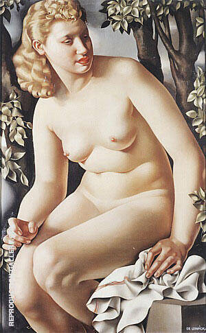 Suzanne Bathing 1938 By Tamara de Lempicka