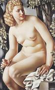 Suzanne Bathing 1938 By Tamara de Lempicka