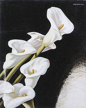 Arums Study c1938 Painting By Tamara de Lempicka - Reproduction Gallery
