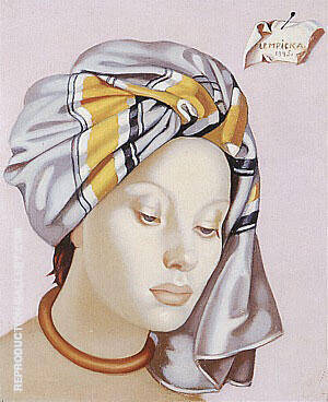 The Gray Turban II 1945 By Tamara de Lempicka Replica Paintings on Canvas - Reproduction Gallery