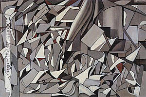 Abstract Composition 1957 Painting By Tamara de Lempicka