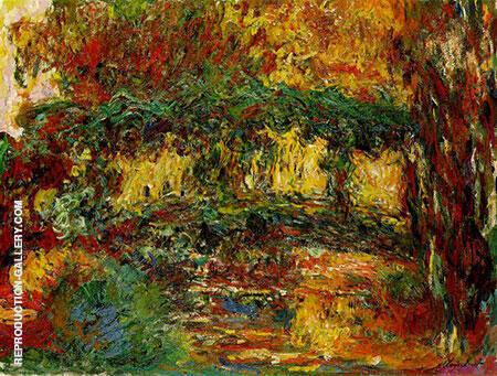Japanese Bridge 1918 By Claude Monet