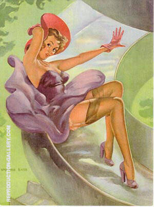 Fast Curves By Pin Ups - Oil Paintings & Art Reproductions - Reproduction Gallery