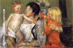After the Bath 1901 By Mary Cassatt - Oil Paintings & Art Reproductions - Reproduction Gallery
