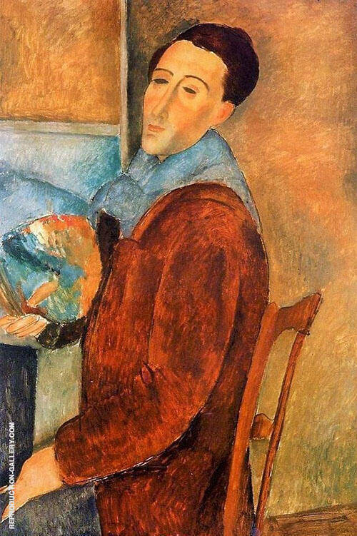 Self-Portrait 1919 Painting By Amedeo Modigliani - Reproduction Gallery