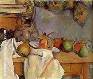 Reproduction of Ginger Pot with Pomegranate by Paul Cezanne | Oil Painting Replica On CanvasReproduction Gallery