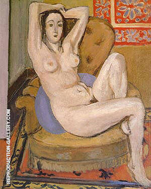 Reproduction of Nude Seated on a Blue Cushion 1924 by Henri Matisse | Oil Painting Replica On CanvasReproduction Gallery