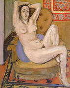 Nude Seated on a Blue Cushion 1924 By Henri Matisse