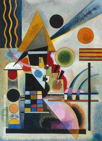 Reproduction of Swinging by Wassily Kandinsky | Oil Painting Replica On CanvasReproduction Gallery