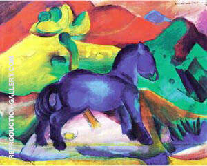 Blaues Pferdchen 1912 Painting By Franz Marc - Reproduction Gallery