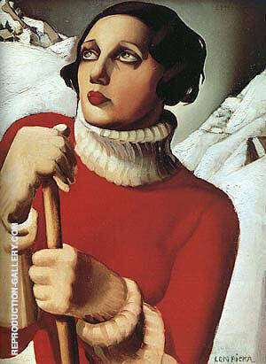 St. Moritz 1929 By Tamara de Lempicka Replica Paintings on Canvas - Reproduction Gallery