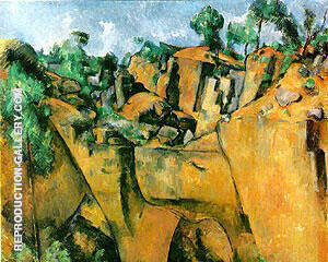 Bibemus Quarry La Carriere Bibemus 1895 By Paul Cezanne - Oil Paintings & Art Reproductions - Reproduction Gallery
