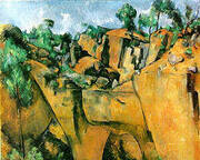 Bibemus Quarry La Carriere Bibemus 1895 By Paul Cezanne