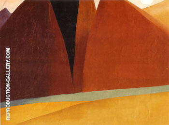 Canyon Country 1964 By Georgia O'Keeffe - Oil Paintings & Art Reproductions - Reproduction Gallery