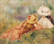 Young Girls at the Water's Edge By Pierre Auguste Renoir