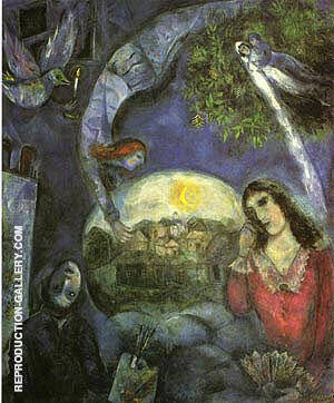 About Her 1945 By Marc Chagall - Oil Paintings & Art Reproductions - Reproduction Gallery